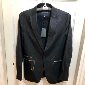 John Varvatos waxed blazer